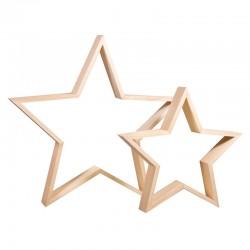 Natúr fa csillagok, 2 db