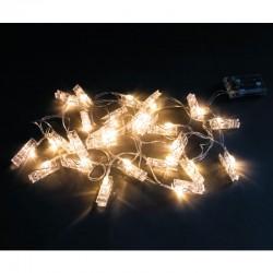 LED-es csipeszes izzófüzér (390 cm)