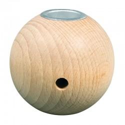 Natúr fa gömb gyertyatartó (7 cm)
