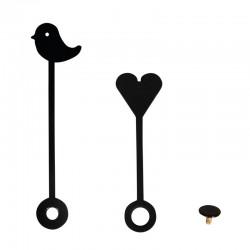 Óramutató - Szív és madárka (50 mm/65 mm)