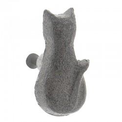 Öntöttvas bútorfogantyú, macska