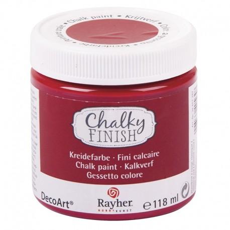 Chalky Finish krétafesték - piros 118 ml