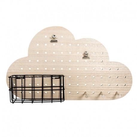 Lyuktábla készlet kiegészítőkkel, felhő formájú - 40 x 24 cm