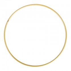 Fém lámpaernyő/makramé karika - arany (több méret)