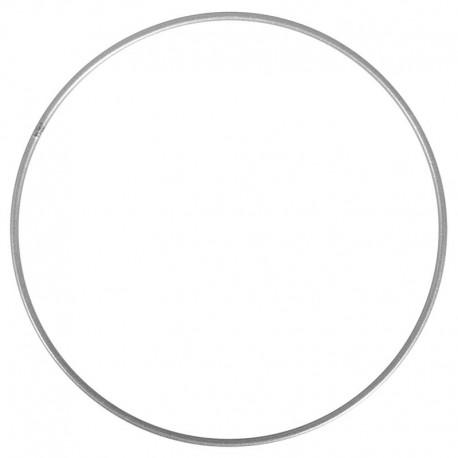 Fém lámpaernyő/makramé karika - ezüst (több méret)