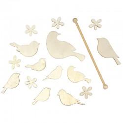 Fa mobilkészlet, madarak