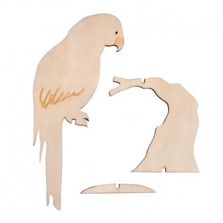 Papagáj dekoráció (10x24 cm)