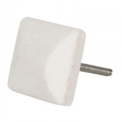 Fehér kő bútorgomb - szögletes (3x3 cm)