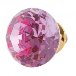Üveg bútorgomb - pink (3 cm)