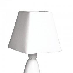 Szögletes lámpaernyő - fehér (16,5 cm)