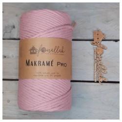 Macrame Pro sodrott makraméfonal, 3 mm (140 m) - dusty pink