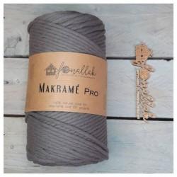 Macrame Pro sodrott makraméfonal, 3 mm (140 m) - sötét szürke
