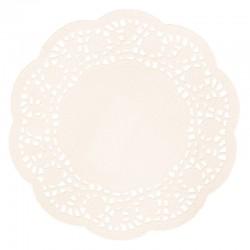 Kerek csipke tortapapír - krémszín, 20 db (16 cm)