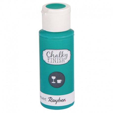 Chalky Finish krétafesték üvegre - tengerzöld 59 ml
