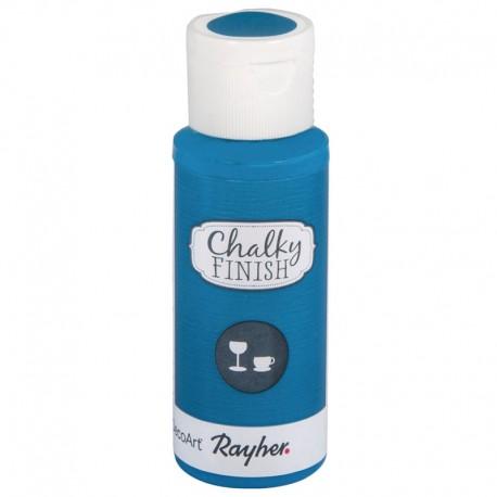 Chalky Finish krétafesték üvegre - azúrkék 59 ml