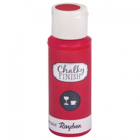 Chalky Finish krétafesték üvegre - klsszikus piros 59 ml
