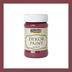 Dekor Paint Soft dekorfesték – burgundi, 100 ml