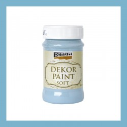 Dekor Paint Soft dekorfesték – lenkék, 100 ml