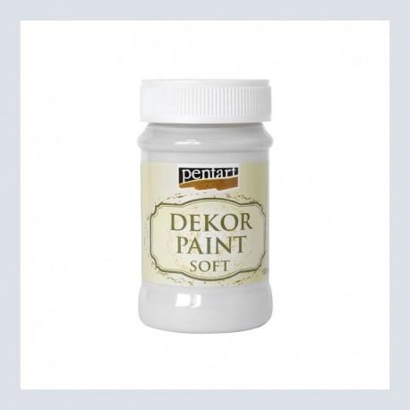 Dekor Paint Soft dekorfesték – törtfehér, 100 ml