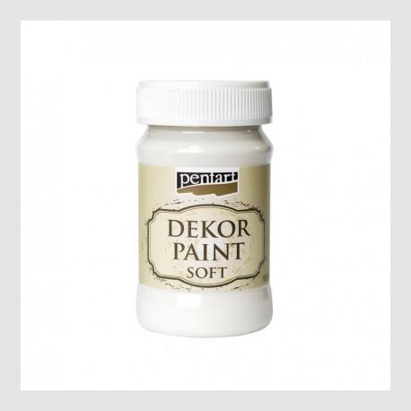 Dekor Paint Soft dekorfesték – krémfehér, 100 ml