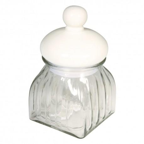 Konyhai üveg tároló kerámia tetővel (18 cm)