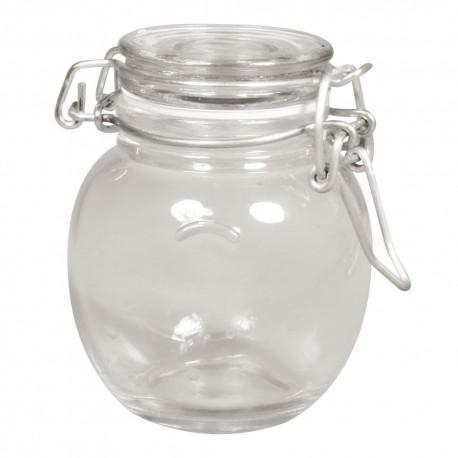 Mini csatos üvegedény - duci (9 cm)