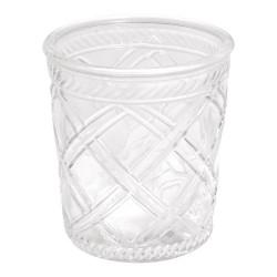 Öblös üvegváza - rácsos