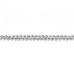 Brokátszegély - ezüst (8 mm)