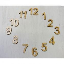 Óralap számok 1-12 (3 cm)