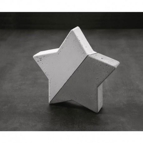 Öntőforma betonhoz: csillag (21,5*21,5 cm)