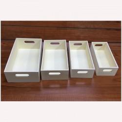 Füles tároló dobozok, 4 db