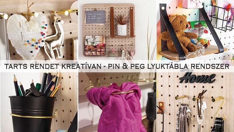 Pin & Peg lyuktábla rendszer
